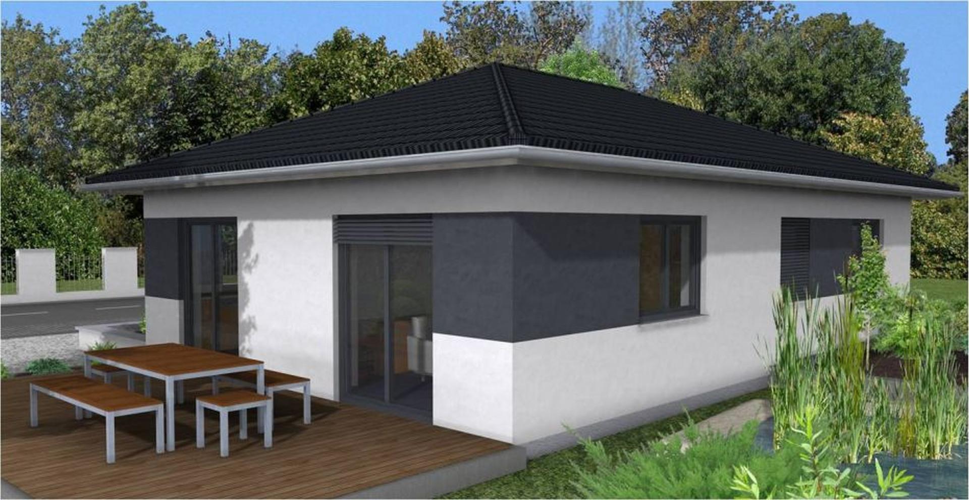 bungalow k 125 moderner kompaktbungalow. Black Bedroom Furniture Sets. Home Design Ideas